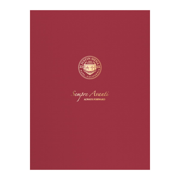 Justin-Siena Catholic High School Pocket Folder (Front View)