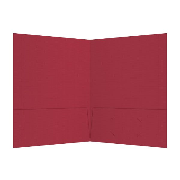 Justin-Siena Red 2-Pocket Presentation Folder (Inside View)