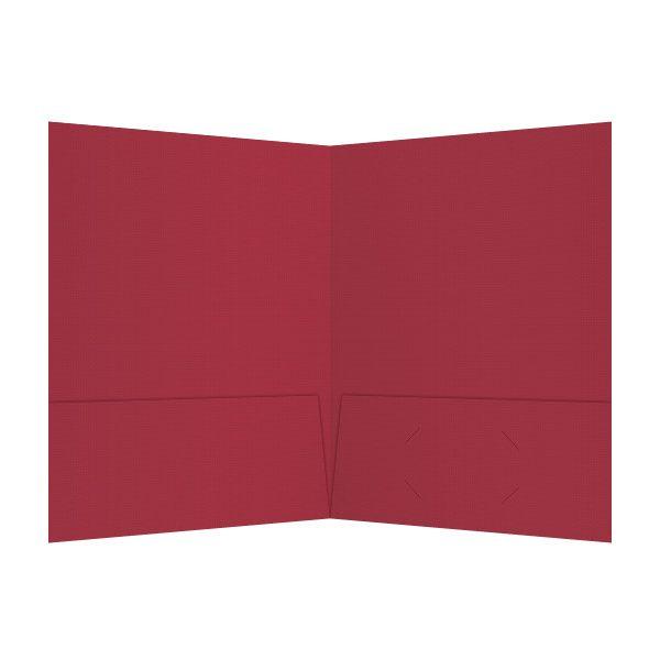 Justin-Siena Red 2-Pocket Presentation Folder (Inside View)
