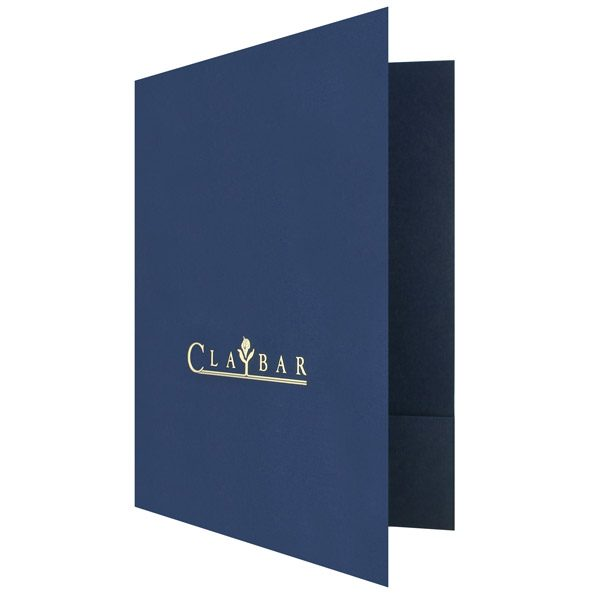 Claybar Flower Logo Presentation Folder (Front Open View)