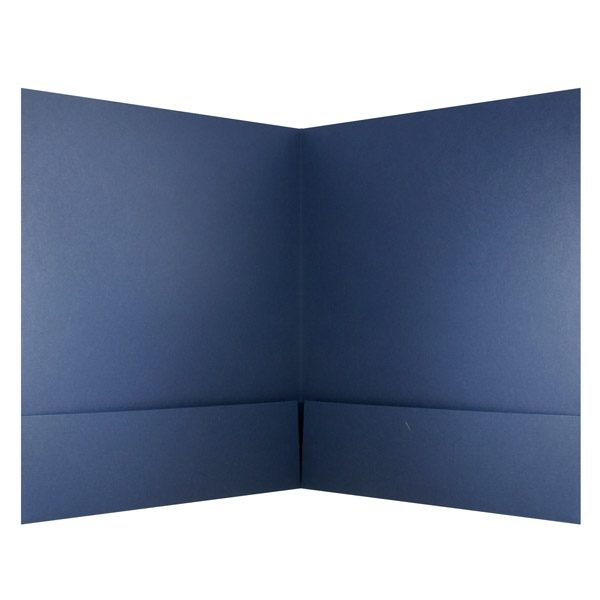 Claybar Blue Pocket Folder (Inside View)