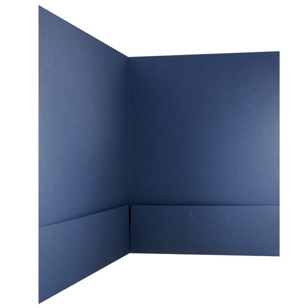 Claybar Plain Blue Presentation Folder (Inside Pocket View)
