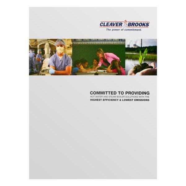 Cleaver Brooks Dual Pocket Folder (Front View)
