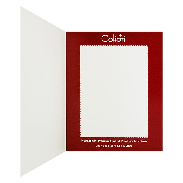Colibri Event Photo Folder Frame in Red (Inside Right View)