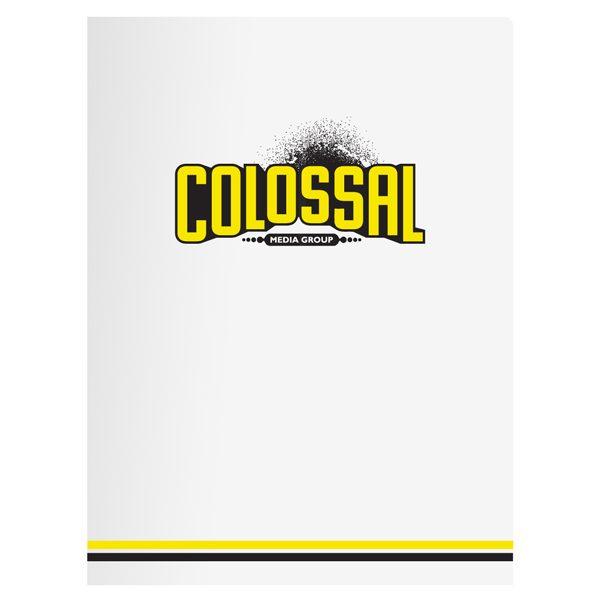 Colossal Media Artist Presentation Folder (Front View)