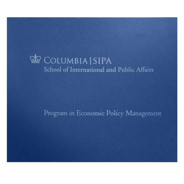 Columbia University Paper Photo Folder (Front View)