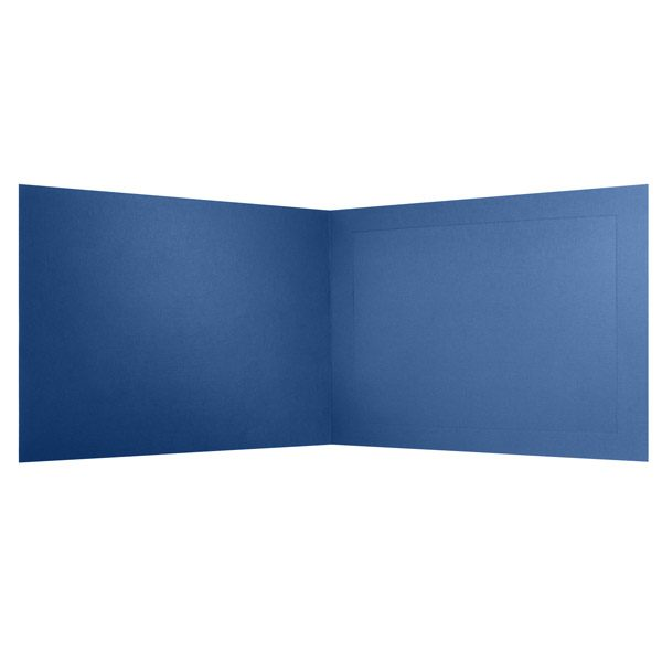 Columbia University Blank Blue Photo Frame Folder (Inside View)