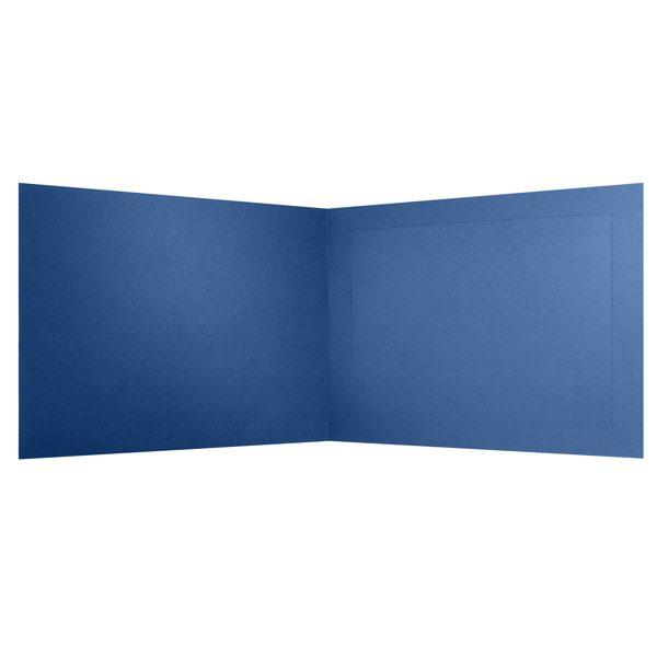 Columbia University Blank Blue Photo Frame Folder (Inside View)
