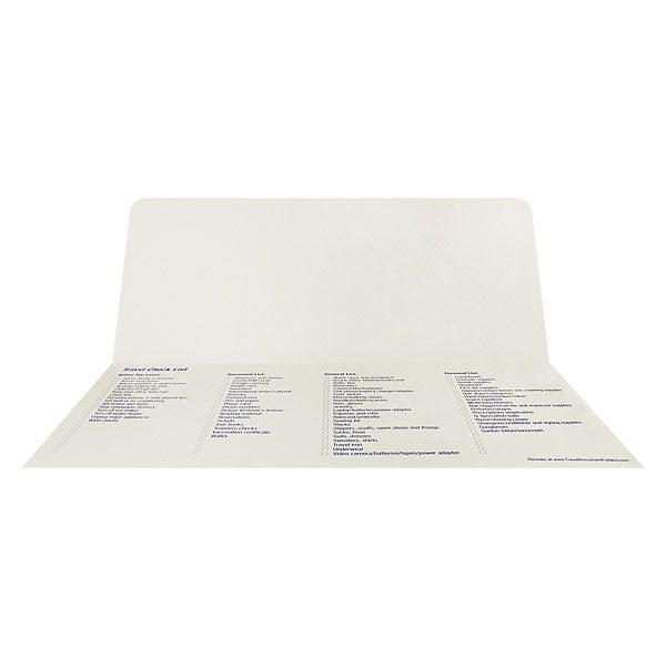 Country Cruise and Travel Retro Document Folder (Inside View)