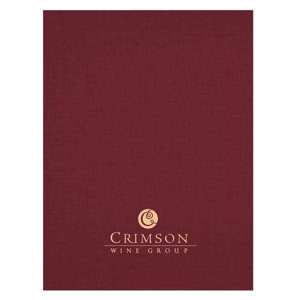 Crimson Wine Group Burgundy Presentation Folder (Front View)