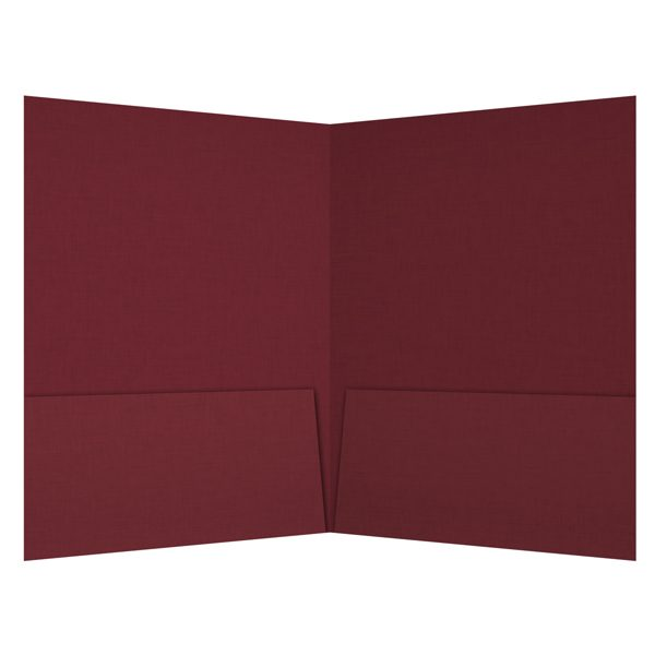 Crimson Wine Group 2-Pocket Burgundy Folder (Inside View)