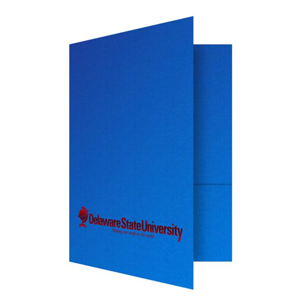Custom School Folders for Delaware State University (Front Open View)