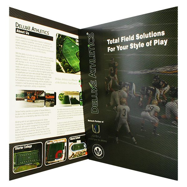 Deluxe Athletics Football Presentation Folder (Inside Panel View)