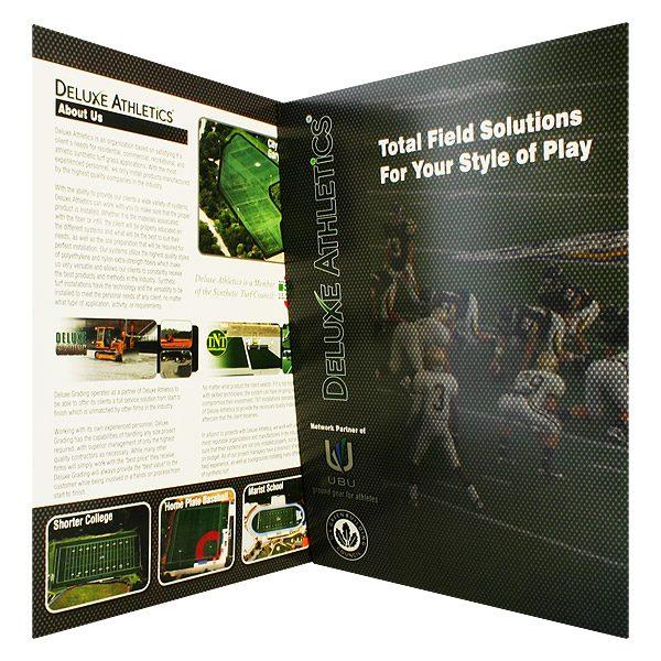 Deluxe Athletics Football Presentation Folder (Inside Panel View)