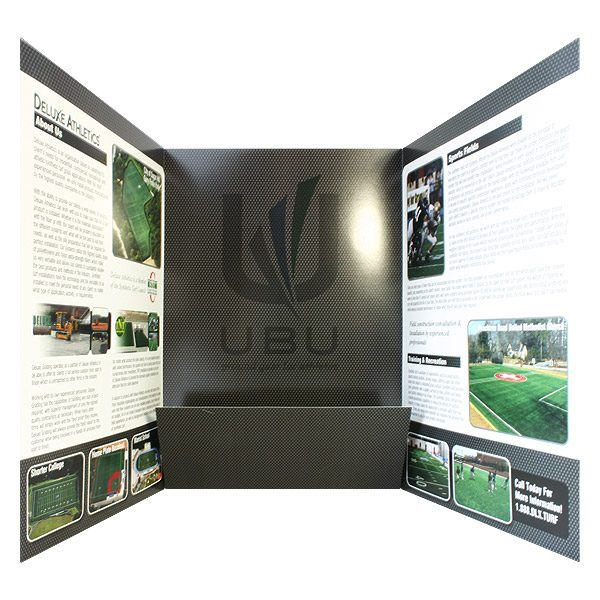 Deluxe Athletics Folders with Company Logo (Inside View)