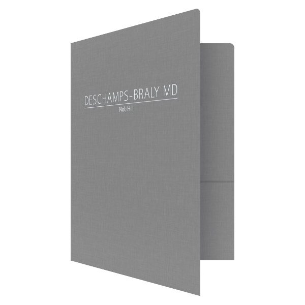 Medical Doctor Presentation Folders by Deschamps-Braly (Front Open View)