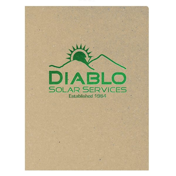 Diablo Solar Services Recycled Pocket Folder (Front View)
