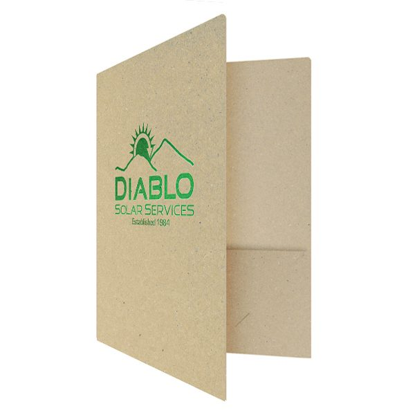 Recycled Pocket Folders for Diablo Solar Services (Front Open View)