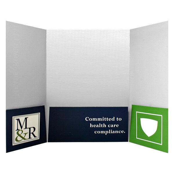 Gatefold Presentation Folder Design (Inside Flap View)