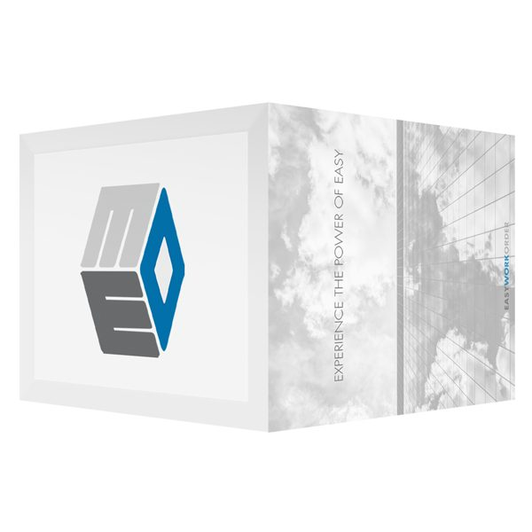 Easy Work Order Blue and Gray Logo Folder (Front and Back View)