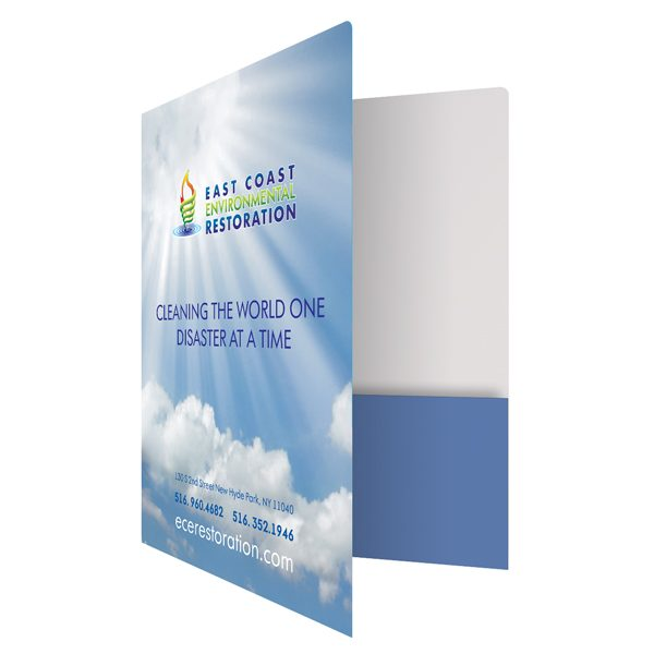 Executive Presentation Folders for ECER (Front Open View)
