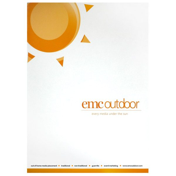 EMC Outdoor Advertising Presentation Folder (Front View)