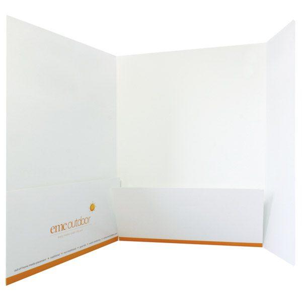 EMC Outdoor 2 Pocket 3 Panel Folder (Open View)