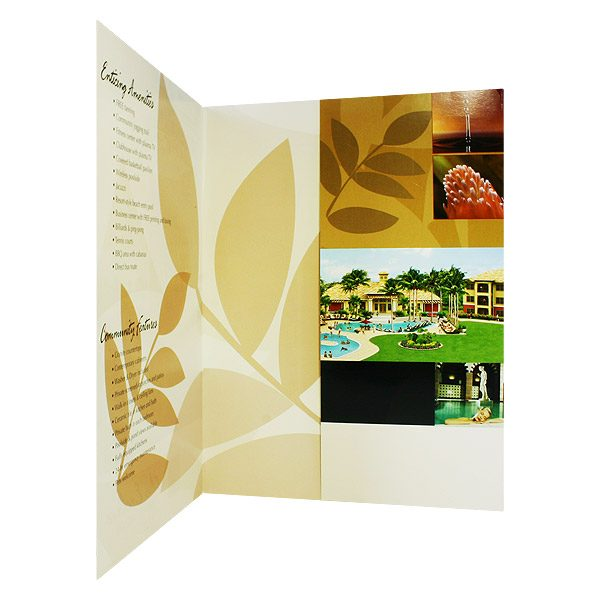 Presentation Folders for Enclave Luxury Apartments (Inside Pocket View)