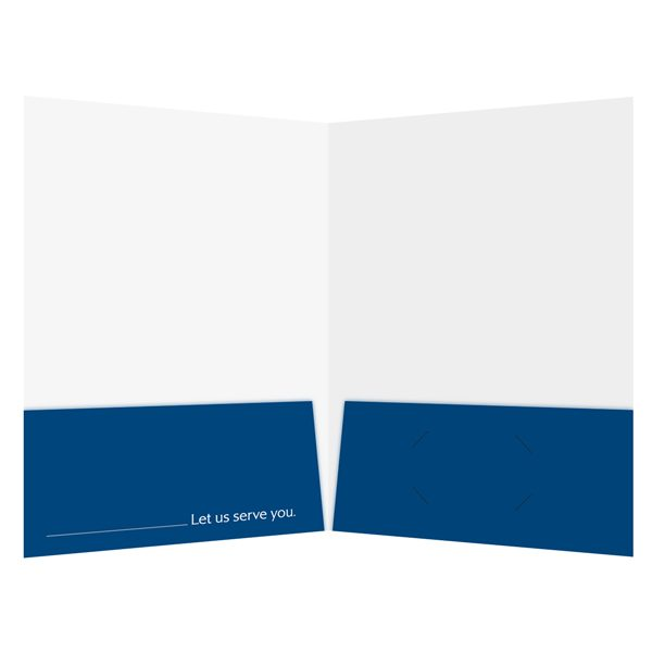 Legal Presentation Folder with Tagline (Inside View)