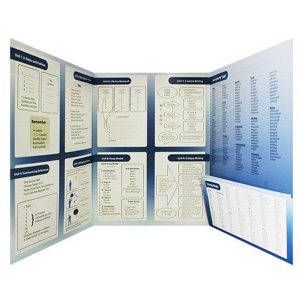 Excellence In Writing Chart Presentation Folder (Inside Pocket View)