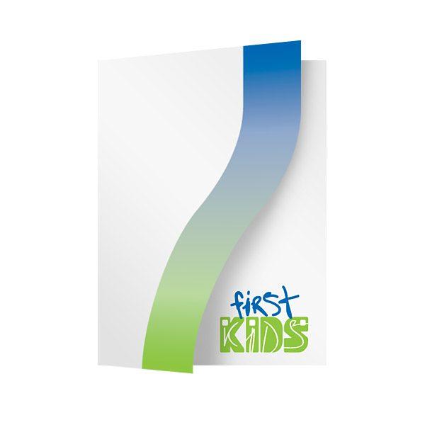 Houston's First Baptist Green & Blue Pocket Folder (Front Open View)