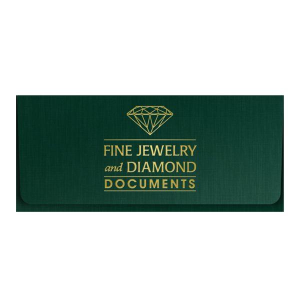 Fisher Diamonds Jeweler Document Folder (Front View)