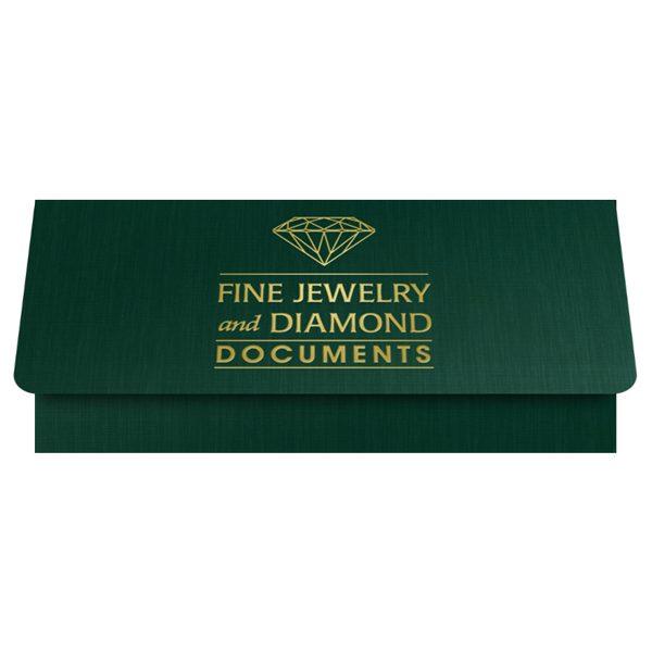 Fisher Diamonds Jeweler Presentation Folder (Front Open View)