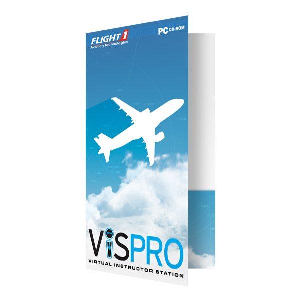 Flight1 Aviation Technology Airplane Logo Folder (Front Open View)