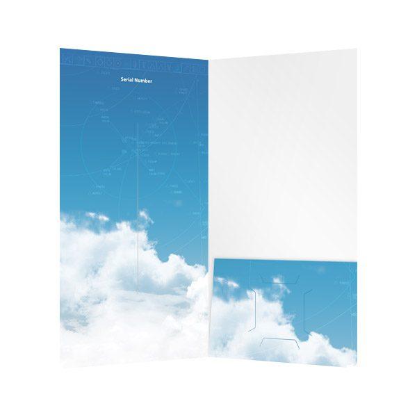 Flight1 Folder with CD Pocket (Inside View)