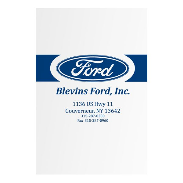 Blevins Ford Dealership Presentation Folder (Front View)