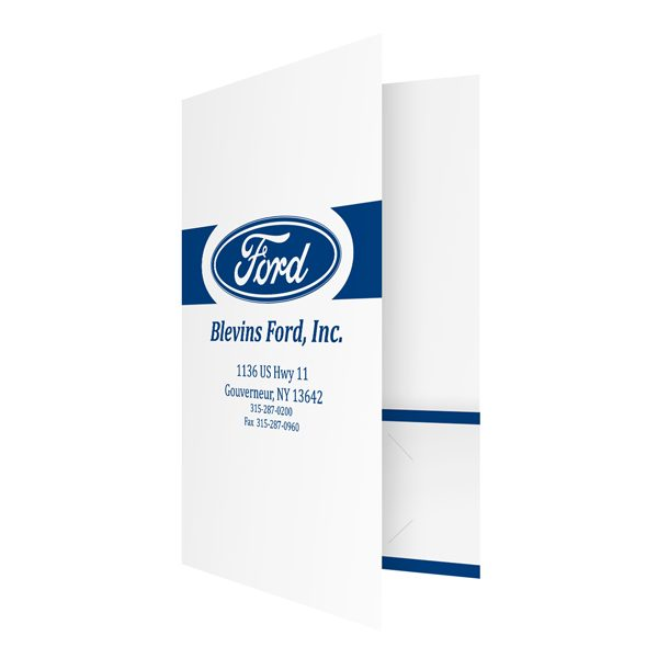 Ford Motor Company Presentation Folder (Front Open View)