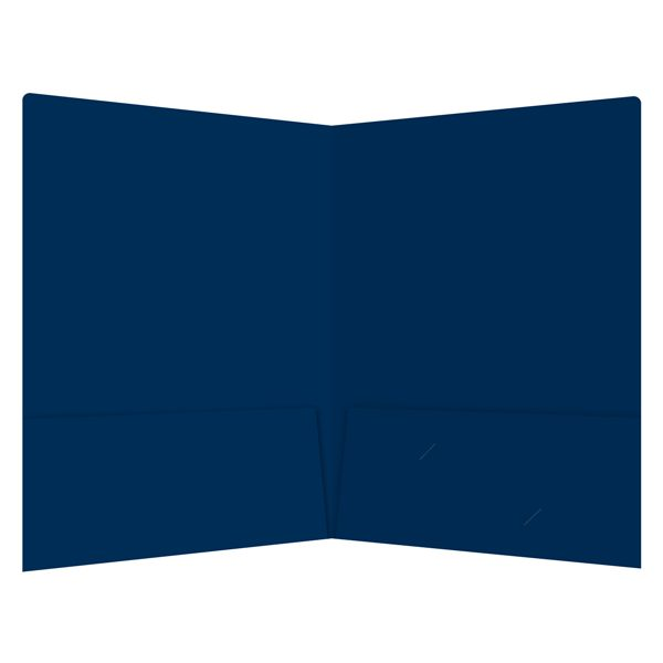 James J. Boyle & Co. Open Blue 2-Pocket Folder (Inside View)