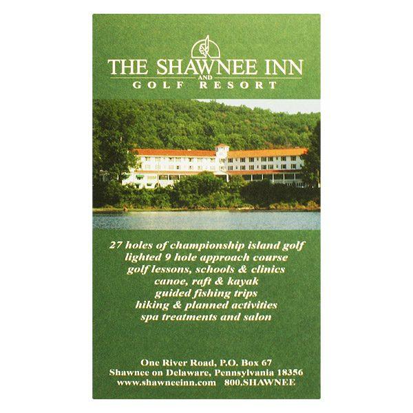 Shawnee Inn Golf Course & Resort Key Card Holder (Front View)