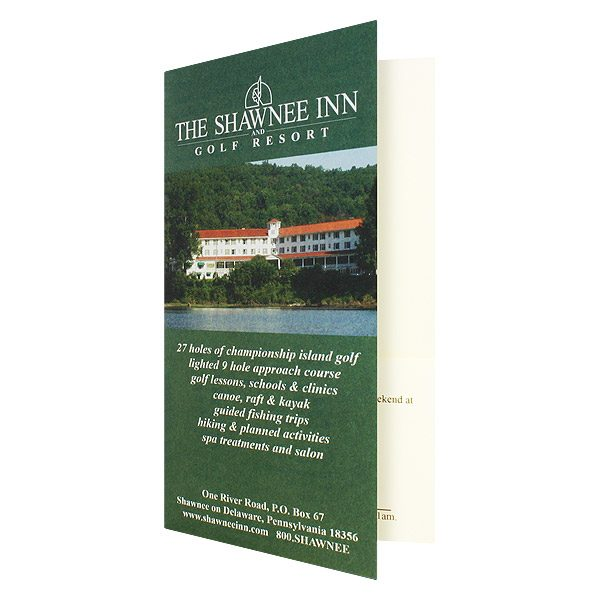 Resort Key Card Holders for Shawnee Inn Golf Course (Front Open View)