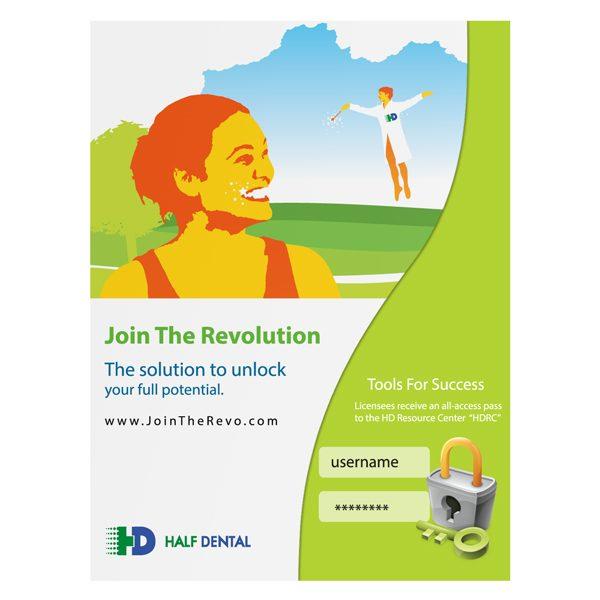 Half Dental Promotional Presentation Folder (Front View)
