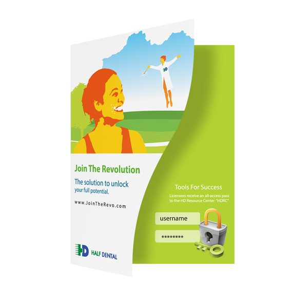 Half Dental Marketing Presentation Folder (Front Open View)