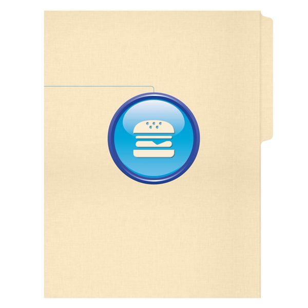 The Hamburger Company Embossed File Folder (Front View)