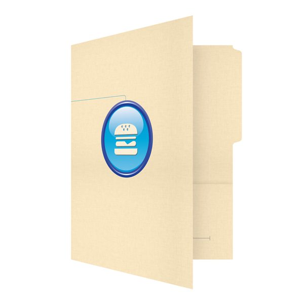 Hamburger Company Media Production Folder (Front Open View)