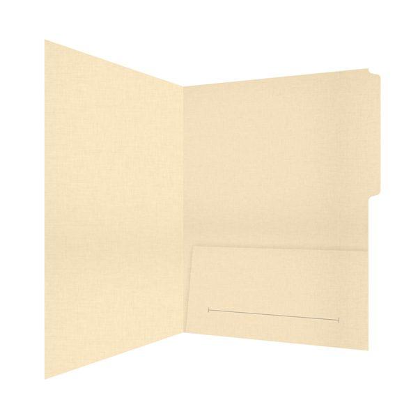 Hamburger Company Single Pocket File Folder (Inside Right View)