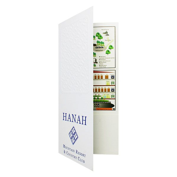Hanah Country Club Infographic Presentation Folder (Front Open View)