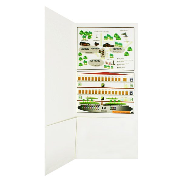 Hanah Country Club Presentation Folder with Map (Inside Pocket View)