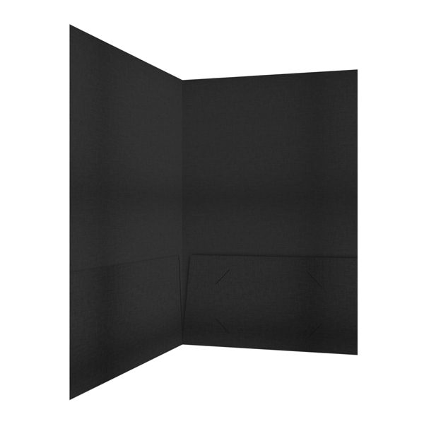 HarperOne Black Linen Folder (Inside Right View)