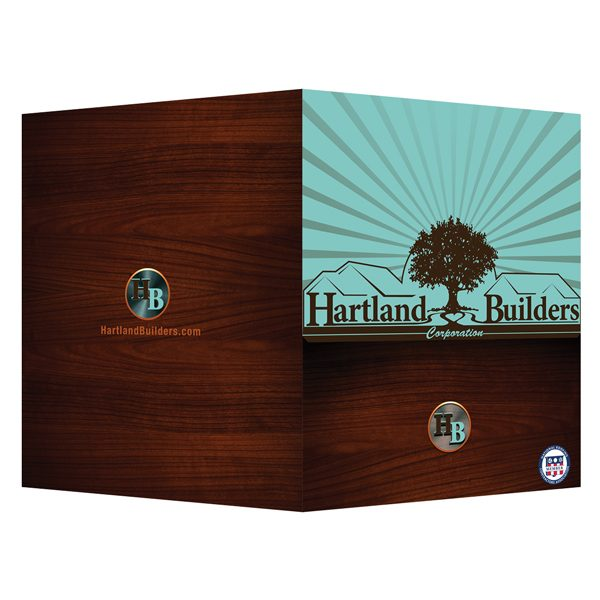 Hartland Builders Construction Company Presentation Folder (Front and Back View)