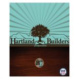 Hartland Builders Wood Grain Presentation Folder